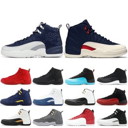 ddd2776c5772 Top 12 XII Men Basketball Shoes New Wntr PRM OVO The Master Bordeaux Flu  Game Taxi 12s Men Designer Sneakers Leather Shoes 7-13