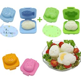Rice Mould Wholesale NZ - 2pcs lot Cartoon Sushi Maker Egg  Rice Roll Mold Kitchen DIY Chef Rice Ball Bento Mould YL875334