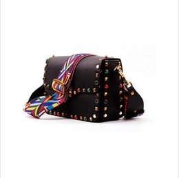 Red Stud Handbags Australia - Wholesale-2016 New genuine leather rock color stud handbags women fashion color rivets shoulder bags easy matching for valentines