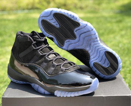 Carbon fiber basketball shoes online shopping - Best Quality s Prom Night Real Carbon Fiber Designer Basketball Shoes Cap And Gown XI Black Fashion Sport Sneakers Come With Box