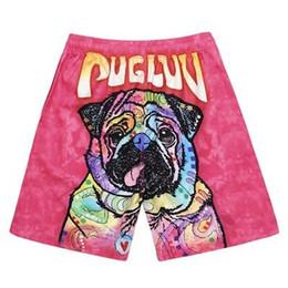 2019 los más nuevos hombres 3D cabeza de perro impresa playa pantalones  cortos perro lindo tablero de impresión pantalones cortos hombres Surf Swim  Wear ... e142bd519ec