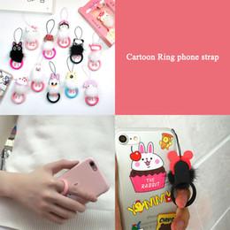 Mp4 cartoon online shopping - Cute Cartoon Design Smart Phone Lanyards Short Finger Ring Circle Rope For IphoneX XR Samsung S8 S6 ID Pass Card Camera MP3 MP4