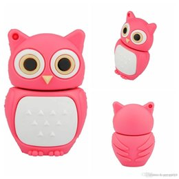 $enCountryForm.capitalKeyWord Australia - Factory price U37 WHOLESALES 8G Cute Mini Owl Chip USB 2.0 Flash Memory Drive Stick Pen Storage Thumb U Disk