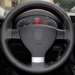 $enCountryForm.capitalKeyWord Australia - Car accessories Leather Car Steering Wheel Covers For Volkswagen Golf 5 Mk5 VW Passat B6 Jetta 5 Mk5 Tiguan 2007-2011