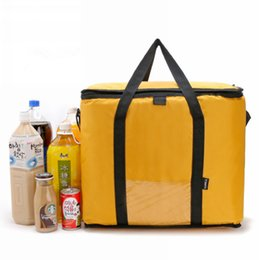 picnic ice packs Australia - 42L Cooler Bag Car ice pack picnic Large cooler bags Yellow Cool Thermo Bag ThermaBag refrigerator thermo thermal bolus thermal