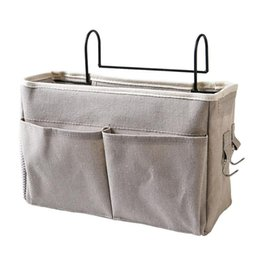 pocket pc new Australia - 1 PC Bedside Bed Hanging Storage Bag Pocket Bedroom Magazine Storage Pouch Bedside Hanging Bag New