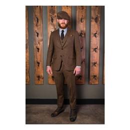 $enCountryForm.capitalKeyWord Australia - Dark Brown Wool Groom Tuxedos Groomsmen Suit Notched Lapel Best Man Suit Wedding Men's Blazer Suits Custom Made (Jacket+Pants+Tie+Vest)