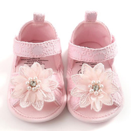 white infant headband 2020 - TELOTUNY sandals Infant Kid Baby Girls Flowers++Headband Soft Sole Cute Princess Shoes Summer Toddler Sandals children c