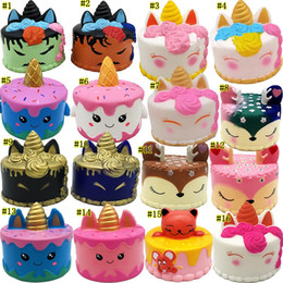 MerMaid cake online shopping - Squishy Toys squishies Rabbit tiger unicorn cake panda pineapple bear cake mermaid Slow Rising Squeeze Cute Strap gift MMA1923