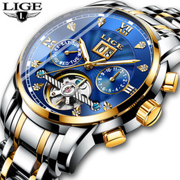 $enCountryForm.capitalKeyWord Australia - New Lige Men Watches Male Top Brand Luxury Automatic Mechanical Watch Men Waterproof Full Steel Business Watch Relogio Masculino J190705