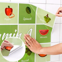 Wall Sticker Fruits Australia - Kitchen Wall Stickers Fruit Dessert DIY Wall Art Decal Decoration Oven Dining Hall Wallpapers Aluminum Foil Wall Decals Adhesive