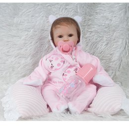 Baby Christmas Gifts Australia - 18 inches Silicone Lifelike Reborn Baby Doll Realistic Newborn Babies with Clothing Kids Playmate Best Birthday Christmas Gift