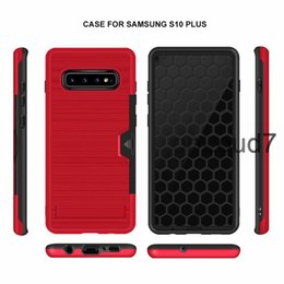 Wholesale Hybrid Brushed Armor Phone Case Kickstand Card Holder Protector for iPhone X XR XS Max Samsung S10 S9 Note9 Huawei P30 Mate