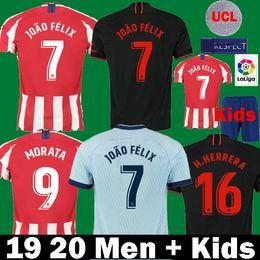 Jersey diego costa online shopping - 2019 JOAO FELIX atletico madrid soccer jersey Kids camiseta de fútbol M LLORENTE MORATA SAUL KOKE DIEGO COSTA football Shirts