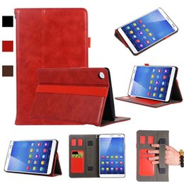 Genuine Leather China Australia - luxury Classic Half Genuine Leather Tablet Case For Huawei M5 8.4 With Shockproof Folding Stand Tablet Cover Case