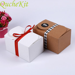 $enCountryForm.capitalKeyWord Australia - 20pcs DIY Kraft Paper Packaging Box Party Cake Gift Candy Box Wedding Birthday Christmas Gift Packing Bag Party Supplies