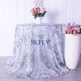 $enCountryForm.capitalKeyWord NZ - CL090C New arrival 2019 gorgeous good quality fancy rose gold navy gold embroidery silver sequin lace wedding table cloths
