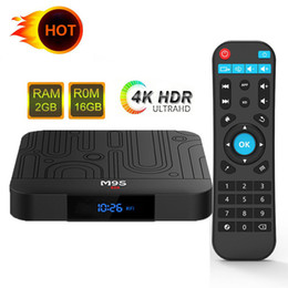 Uhd Tv Box Australia - Hot M9S W1 Android 7.1 TV Box 4K UHD Media Player Amlogic S905W Quad-core ARM Cortex-A53 CPU 64 Bit DDR3 1GB 8GB 2GB 16GB WiFi & LAN VP9