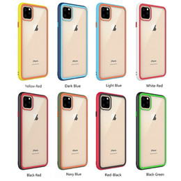 China Rainbow Transparent Clear Glass Back Case Soft TPU Frame Phone Case For iPhone 11 Pro Max XR XS Max 8 7 Plus 6G suppliers