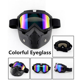 208de9fbf6 Men Women Ski Snowboard Snowmobile Goggles Snow Winter Windproof Skiing  Glasses Motocross Sunglasses with Face Mask