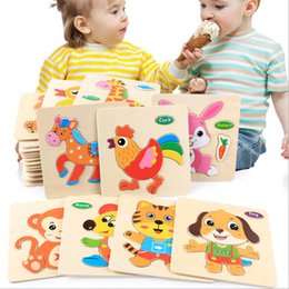 $enCountryForm.capitalKeyWord NZ - Toys for Baby Colorful Wooden Puzzle Animal Educational Developmental Baby Kid Training Toy Educational Toy Gift for Baby