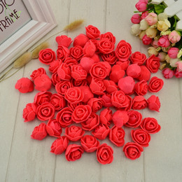 Artificial Flowers For Decoration Box NZ - 50 pcs PE Foam fake flower roses head artificial flowers cheap wedding decoration for scrapbooking gift box diy wreath Multi-use C18112601
