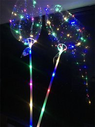 $enCountryForm.capitalKeyWord Australia - Love Heart LED Fulgurate Balloon BoBo Ball Flashing Light Transparent Hear Shape Balloons with Pole Toys for Valentine's Day Wedding Party