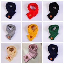 $enCountryForm.capitalKeyWord Australia - Fashion Baby Scarf Lovely Kids Boys Girls Autumn Winte Scarves Warm Neck Warmer Scarves Knitting Neck Scarf 12 Colors Gifts
