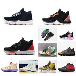 7ff62251bf5 Mens kyrie 5 shoes Galaxy Taco Black White Red Multi color new Youth Kids kyries  irving V outdoor sports sneakers with box
