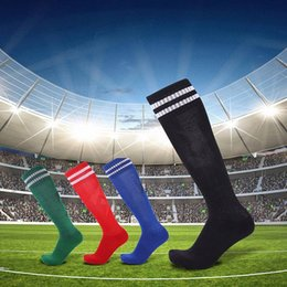 e0050a31d2e 1 Pair Mens Soccer Socks Striped Football Sports Socks Over Knee High Long  Stockings Running Cycling Breathable New