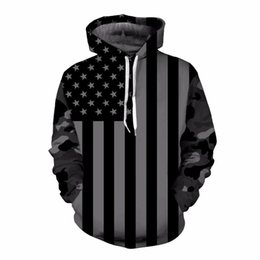 Discount tracksuits men usa USA Flag Hoodies Men women 3D Sweatshirts Print Striped Stars America Flag Hooded Hoodies Tracksuits Pullover Mr.1991INC