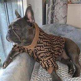 Ingrosso INS lettera di modo domestici Maglioni Costumi Inverno elastico Teddy Schnauzer Felpa Trendy Soft Touch Pet Abbigliamento