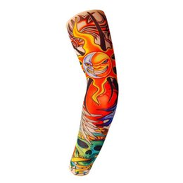 $enCountryForm.capitalKeyWord Australia - lifelike Tattoo sleeve Unisex Cool Summer Anti-UV cycling and motorcycle equipment Fashion driving arm sleeve more than 100 styles