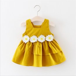 Baby Dresses Cotton For Wedding Australia - Baby girls wedding dresses summer newborn baby cotton sleeveless dress for girls infant princess birthday party clothes toddler outfit