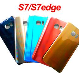 $enCountryForm.capitalKeyWord Australia - Glass Battery Back Cover for Samsung Galaxy S7 G930F S7Edge G935F Battery Housing Adhesiver Sticker