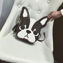 Woman Funny Bags NZ - Funny Design Cartoon Print Dog Women Shoulder Bags Doggy Animal Crossbody Bags Lady Lovely PU Leather Messenger For Women