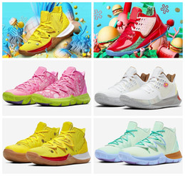 Mountain sneakers online shopping - New Kyrie Sponge Bobs Men Basketball Shoes Trainers Kyrie Irving s Squidward Mountain Oreo Friends Patrick Sports Sneakers Size