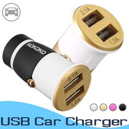 $enCountryForm.capitalKeyWord Australia - Mini USB Car Charger For Mobile Phone Tablet 4.4A Fast Charger Dual USB Car Phone Charger Adapter For iPhone Huawei Samsung LG