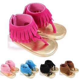$enCountryForm.capitalKeyWord Australia - 2019 HOT SALE Summer Toddler Infant Baby Girls Kids Tassel Sandals Tassel Princess Crib Shoes Soft Sole Prewalkers