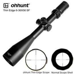 scope mil dot reticle Canada - Thin Edge 6-36X56 SF Hunting Riflescopes Side Parallax Mil Dot Glass Etched Reticle Turrets Lock Reset Shooting Scope