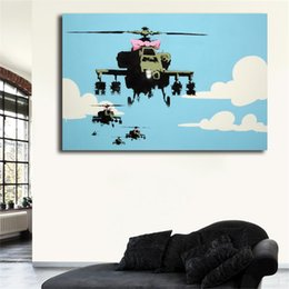 Helicopter frames online shopping - Vapor Helicopter UAV By Banksy HD Canvas Painting Print Living Room Home Decor Modern Wall Art Oil Painting Poster Drop Shipper