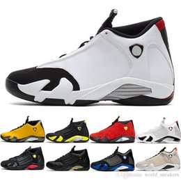 $enCountryForm.capitalKeyWord Australia - 14 Candy Cane Men Basketball Shoes 14s The Last Shot Desert Sand Black Toe Mens Trainer Athletic Sports Sneakers Size 8-13