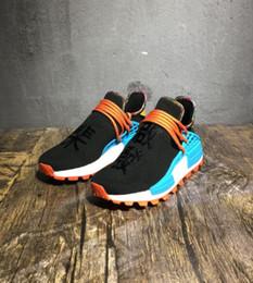 Plastic Red Heart Australia - 2019Pharrell Williams Human Race PW HU HOLI MC Heart Idea Designer Men Women Running Shoes Afro Hu Trial Solar Pack Sports Sneakers