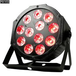 12x12w 12x18w LED PAR lumière RGBW / RGBWA UV 4in1 / 6in1 par plat dirigé DMX512 discothèque lumière scène professionnelle équipement dj en Solde
