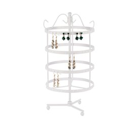 round jewelry display stand NZ - Jewelry Display Stand Holder Four-Layer Earring Display Stand Round Practical Rotatable Jewelry Organizers ofly