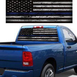 window stickers Australia - VODOOL American Flag Rear Window Graphic Sticker Rear Tail Windshield Decor Decal Stickers Sunshade Car Styling For SUV Pickup