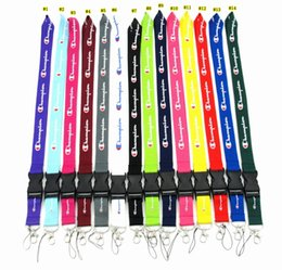 Cellphone Keys Australia - C Letter Neck buckle Strap Lanyard Cellphone Neck Strap Key Ring KeyChain Cellphone Strap 14colors LJJM2084
