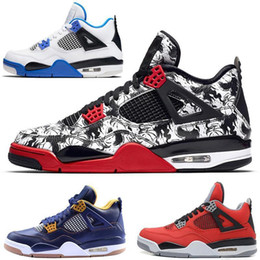 $enCountryForm.capitalKeyWord Australia - With Box 2019 Bred 4 Basketball Shoes Sneakers Men Mens Thunder White Cement Pure Money Bred Royalty Game Royal 4s Sports Shoes Us 7-13