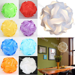 Wholesale Lamp Covers Jigsaw Light Modern IQPuzzle Shade 25cm 30cm 40cm Ceiling Lampshade Lighting Accessories Creative DIY ChandelierDHL