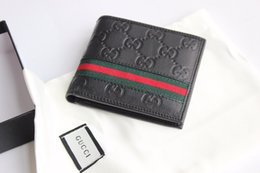 Size 11 ShortS online shopping - 2019 black real leather short men wallet with box classic letter canvas purses women card holder size cm